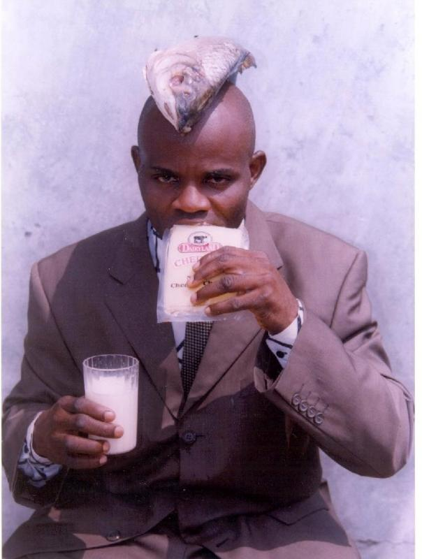Nigerian disciple of the Fish, Cheese, Milk Church