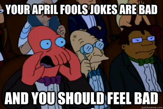 April fool zoidberg