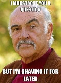 tiens une moustache
