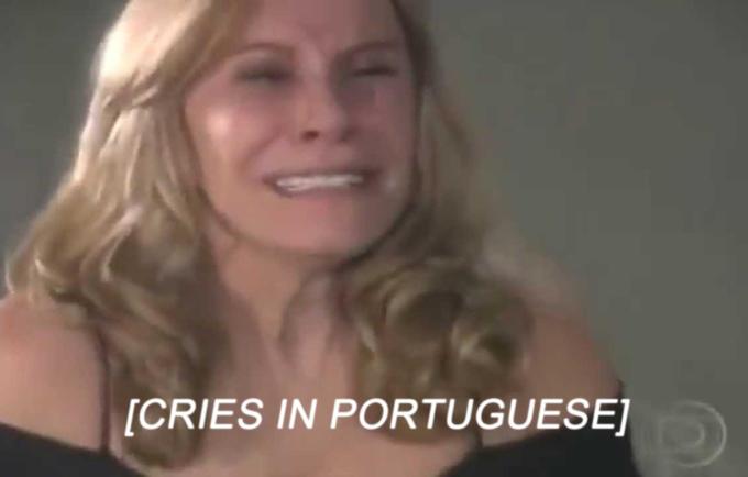 Pleure en portugais