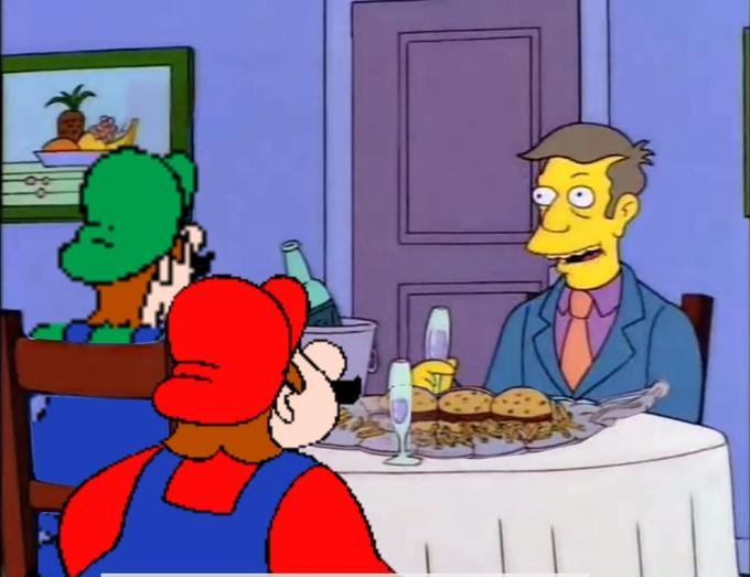 Steamed Hams avec Mario et Luigi